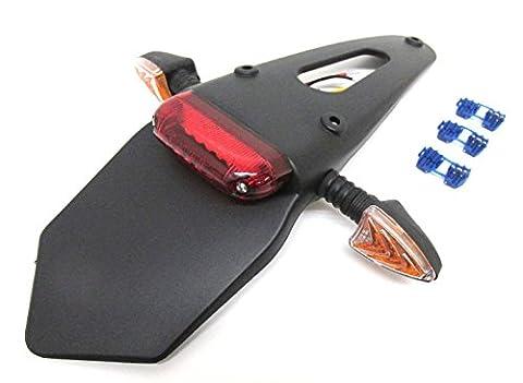 SP Support de plaque avec feu arrière LED et Clignotant