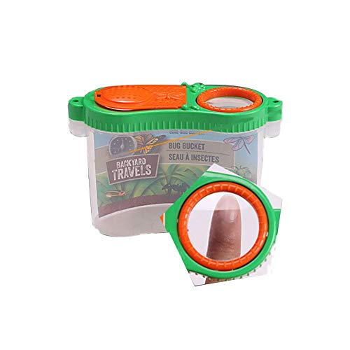 Ridecle Insekten-Fütterungs-Beobachtungsbox Pädagogische Kinder erkunden Kits mit Lupe Puzzle Toy Breeding Cage