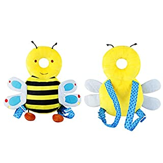 Baby Kopfschutz Pad, Samber Kopf Nacken und Schulter Fallschutz Schützen Kissen für Baby Kleinkind Sit Walk Learning (Bienen)