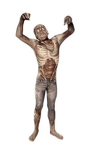 Zombie Kids Monster Morphsuit Faschingskostüm - Large 4'1-4'6 (123cm-137cm)