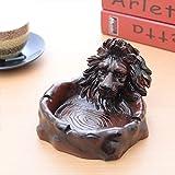LTJTVFXQ-ashtray Big Lion Aschenbecher Creative Trend Wohnzimmer Startseite Aschenbecher Senden Freund Elder Geschenk Red Brown (Farbe : Brown)