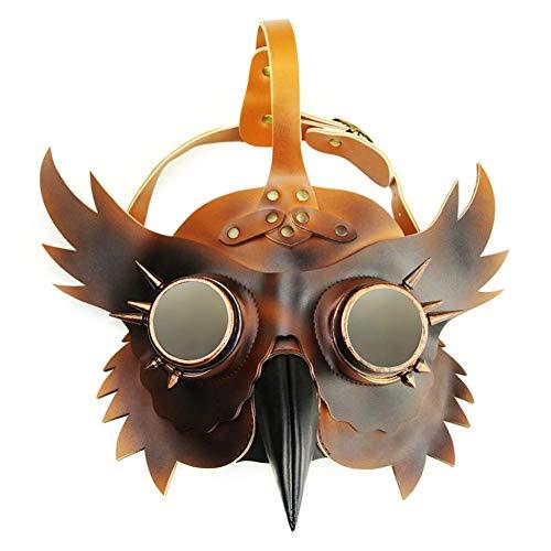 Stadt Kostüm Party Kinder Armee - ROHXNK Vogel Schnabel Maske Pest Doktor Vogel Kopf Maske Gothic Steampunk Ledermaske Für Männer Und Frauen Erwachsene,A