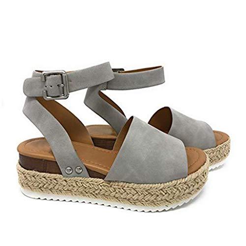 Mosstars Chaussures pour Femmes, Sandales léopard de Grande Taille, Fond épais, enroulement, Chaussures décontractées, Sandales légères antidérapantes