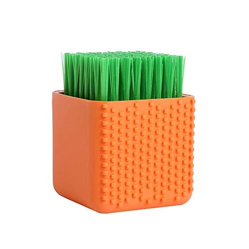 GYJ 2 Pack Silikon-Wäschetrockner Scrub Multi-Use-Hauskleidung Waschen Bürste Dual-Use-Schrubbung Pinsel für Kleidung Unterwäsche Schuhe Plastische weiche Reinigung Werkzeug - Orange Scrub Hose