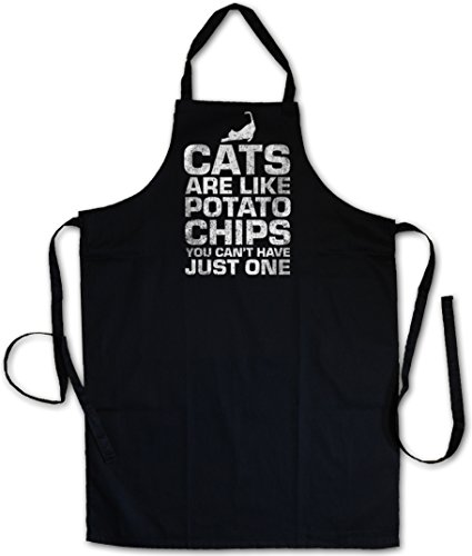 Cats Are Like Potato Chips Tablier De Cuisine Apron Cuisson Gril BBQ Barbecue