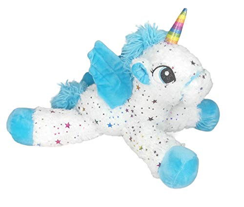 Barrado - Peluche Stelle sdraiate Unicorno 15'75 '/ 40cm qualità Super Soft - Colore Blu