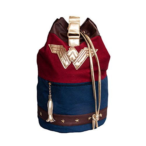 Wonder Woman Duffle Bag Rucksack rot/blau (Wonder Woman Tasche)