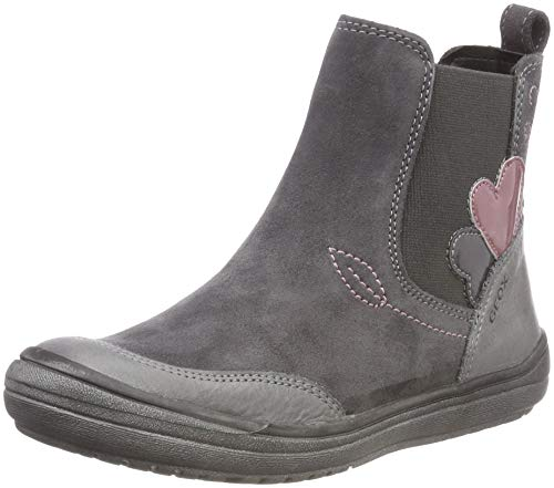 Geox Mädchen J HADRIEL Girl D Chelsea Boots, Grau (Dk Grey C9002), 33 EU -