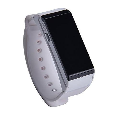 accrocn® co-watch Casque Bluetooth Smartwatch étape compteur Calories consommation kilométrage Sport pour iOS iPhone 7et Android Smartphones