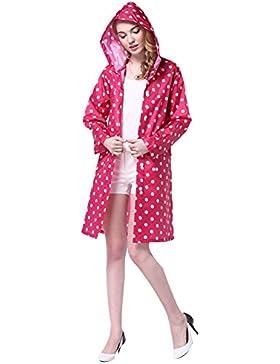 Chubasquero Lluvia Para Chaquetas de mujer Lluvia Poncho con capucha Moderno Lluvia Ropa para mujeres y niñas...