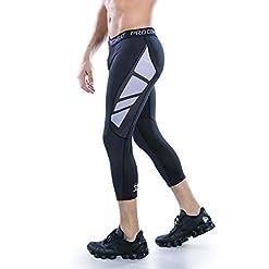 AMZSPORT pantalone a compressione, Uomo