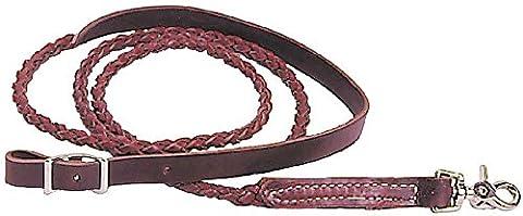 The Colorado Saddlery 4 Plait Round Braid Latigo Roper and Contest Rein