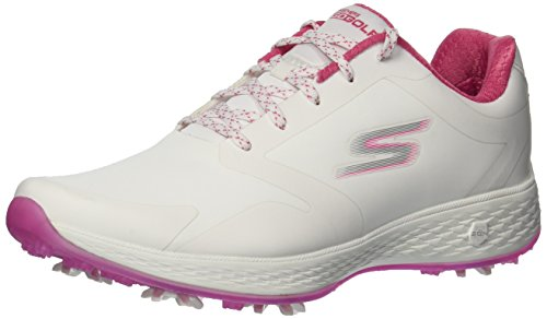 Skechers 2018 GO GOLF Eagle PRO Womens Spikes Waterproof Shoes 14869 White/Pink 5UK