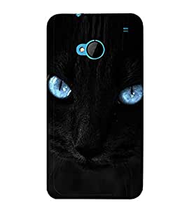 Cat with Blue Eyes 3D Hard Polycarbonate Designer Back Case Cover for HTC One :: HTC One M7
