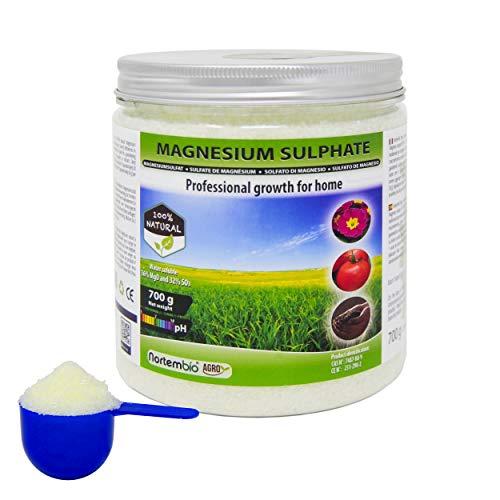 Nortembio agro solfato di magnesio naturale 700 g. uso universale. migliora la crescita di colture, giardini, piante da appartamento ed esterno.