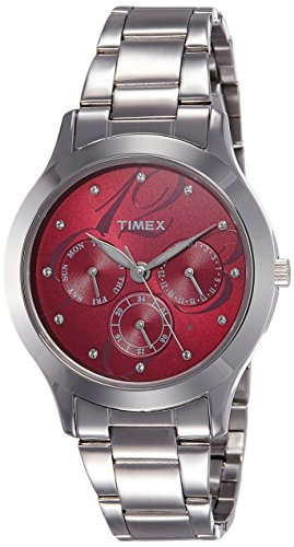 Timex E-Class Analog Red Dial Women's Watch - TI000Q80200 image
