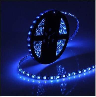 LZQ-DZ LED-Lichtleiste, Wasserdichte Lichtleiste Niederdruckkleber Weicher Patch 5M 72W Kaltweiß Warmweiß Blau Streifen Schwarz Wasserdicht LED Flexibel Licht Flexibel Streifen Blau (Farbe : Blau) (Led-belegungs-sensor-licht)