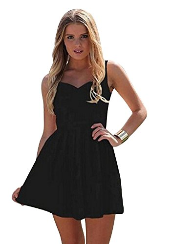 Molly Donne Party Dress Cuore Halter Maniche Gonna Maxi Tunica Vestito Small Nero
