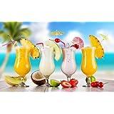 6 Gläser Fiesta Hurricane Cocktail Glas, Pina Colada