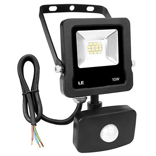 LE Foco Proyector Led exterior con Detección de Movimiento, 10W, 800lm IP65,...