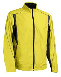 X-Cellerate Cyclone Running Jacket - Yellow/Charcoal, Medium