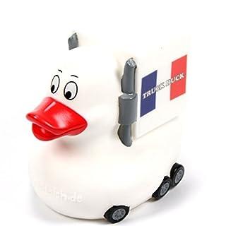 TRUCK DUCK® Original Truck Duck Figur Trucker LKW Auto Fahrer Ente mit Frankreich France Flagge Fahne Wimpel