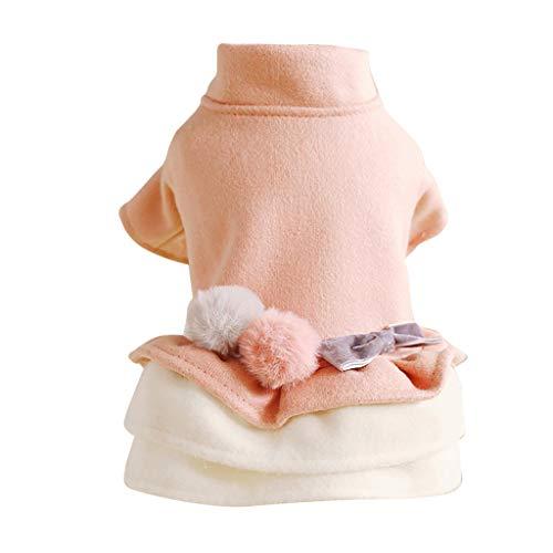 Katze Hund Tutu Kleid Warm Winter Sweater Puppy Kostüm Bekleidung Prinzessin Kleider Haustier - Prinzessin Winter Kostüm