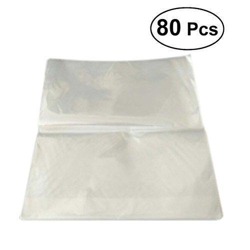 rosenice Zellophan Transparente Kunststoff Tasche Brot Beutel für Lebensmittel Aufbewahrung 30x 32cm über 80 (Brot-taschen Aus Kunststoff)