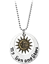 TBOP NECKLACE Europe And The United States My Sun And Stars Alloy Necklace In Silver Gold Color