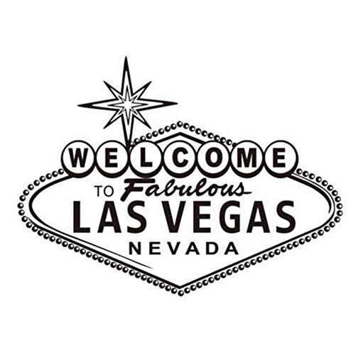 Willkommen bei Fabulous Las Vegas Wandaufkleber Modern Nordic Design Charakter Vinyl Kunst Dekorative Wandtattoo Für Wohnzimmer 59x79cm