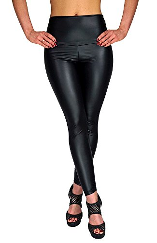 berry-entier-taille-haute-chaud-sexy-leggings-faux-cuir-pu