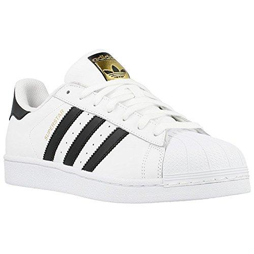 adidas Superstar Foundation, Scarpe da Ginnastica Basse Unisex - Adulto, Bianco (Ftwr White/Core Black/Ftwr White), 38 2/3 EU ...