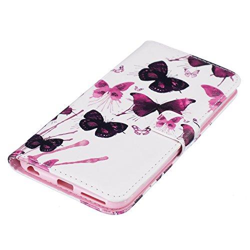PU für Apple iPhone 6 Plus (5.5 Zoll) Hülle,Geprägte Campanula Handyhülle / Tasche / Cover / Case für das Apple iPhone 6 Plus (5.5 Zoll) PU Leder Flip Cover Leder Hülle Kunstleder Folio Schutzhülle Wa 8