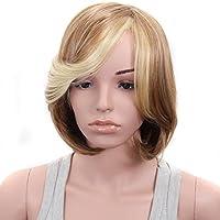 Parrucche Donna Capelli Veri Corti Parrucca Morbido Naturale Lisci Medi