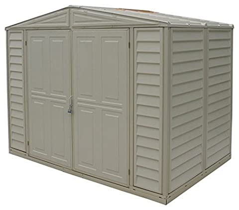 Duramax 8 x 5 ft 3-Inch Duramate Shed with Foundation Kit- Ivory
