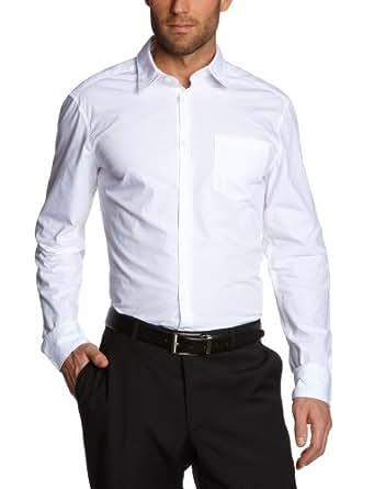 ESPRIT Herren Businesshemd Slim Fit N32955, Weiß (White 100), 3XL