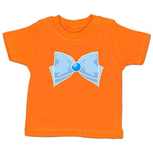 Karneval und Fasching Baby - Superheld Manga Merkur Kostüm - 18-24 Monate - Orange - BZ02 - Baby T-Shirt Kurzarm