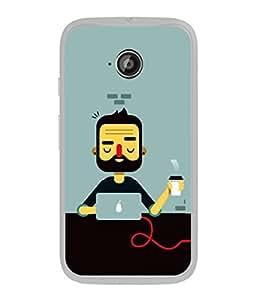 PrintVisa Designer Back Case Cover for Motorola Moto E :: Motorola Moto E XT1021 :: Motorola Moto E Dual SIM :: Motorola Moto E Dual SIM XT1022 :: Motorola Moto E Dual TV XT1025 (Love Lovely Attitude Men Man Manly)