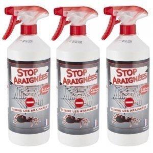 Stop Araignées lot de 3X1L + 3 Pulvérisateurs