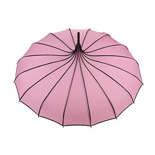 Glocke Automatik Gehstock Windschutz Regenschirm für Damen Hochzeit B ()