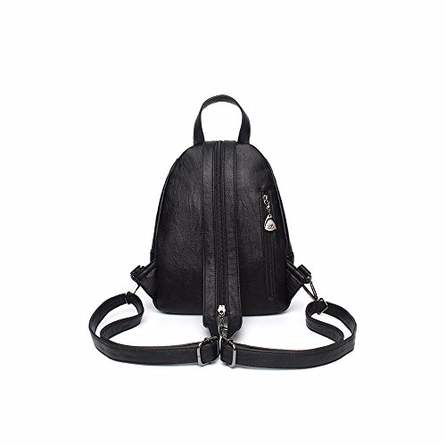 mini - leder, nieten schoolbag rucksack.,gray gray