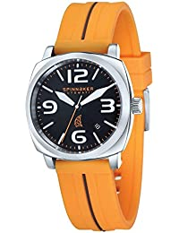 Spinnaker Hull Men's Automatic Watch with Black Dial Display on Orange Silicon Strap SP-5020-03