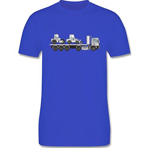 Andere Fahrzeuge - Tieflader Sattelauflieger Walze Radlader - Herren Premium T-Shirt Royalblau