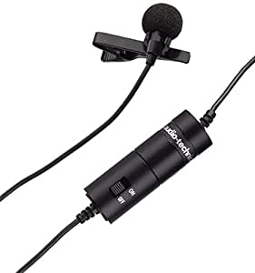 Audio-Technica ATR-3350 ATR Series Omnidirectional Condenser Lavalier Microphone - Black