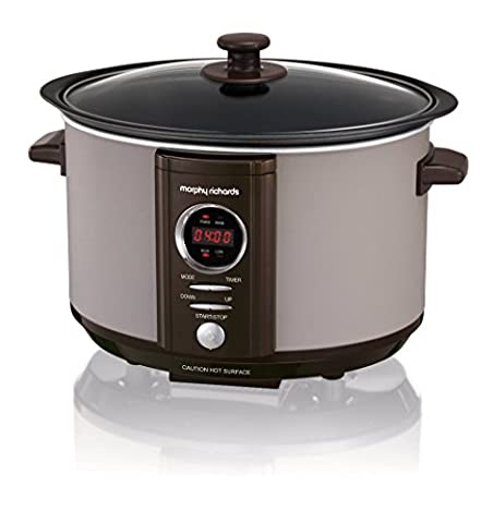 Morphy Richards 460008 Accents Slow Cooker, 3.5 Litre, Pebble