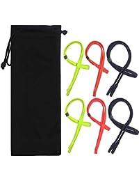 YuCool - Juego de 6 Correas Ajustables para Gafas, Cadena Universal para Gafas o Soporte de Gafas de Sol para la mayoría de Las Gafas, Color Negro, Verde, Rojo