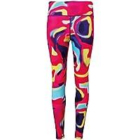 Tridri Rendimiento Leggings de la Mujer, Rendimiento, Mujer, Color Aurora, tamaño XS