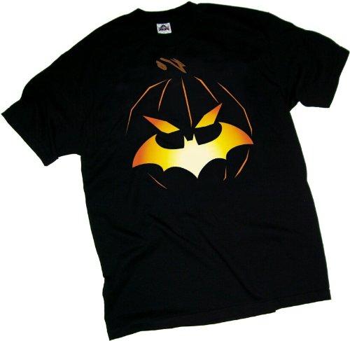 (Batman -- Halloween - Jack O'Bat Logo Erwachsener T-Shirt, M)