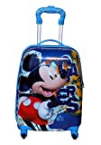 #6: GOCART Micky Printed Hard Side Water Proof Polycarbonate 360 Degree Rotating School Bag for Baby Boys & Baby Girls (Blue)