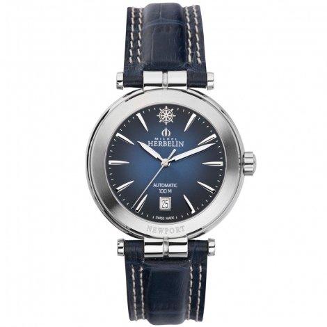 Michel Herbelin Newport Yacht Club Men's Automatic Watch blue/grey 1666/15
